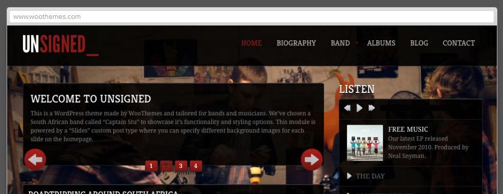 WordPress Themes für die Musiker Website und was man beachten sollte |